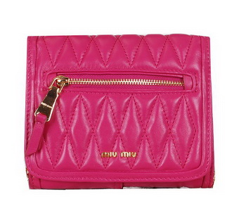 miu miu Matelasse Leather Flap Shoulder Bags BL0530 Rose