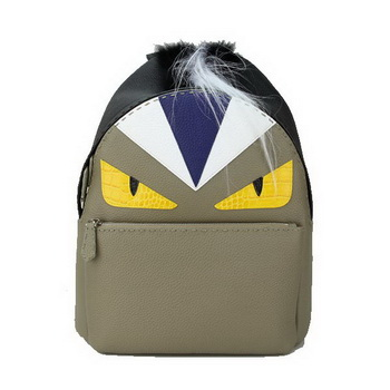 Fendi Selleria Backpacks Original Leather FD8862I Khaki