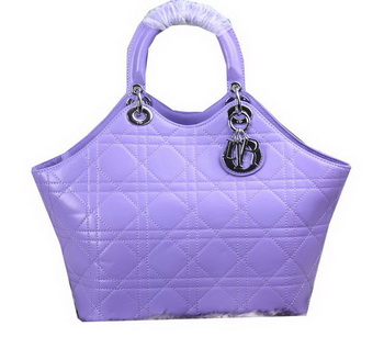Dior Panarea Sheepskin Leather Tote Bag CD6618 Lavender