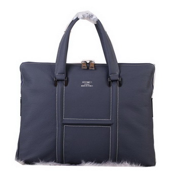 Hermes Briefcase Original Calf Leather H3081 Royal