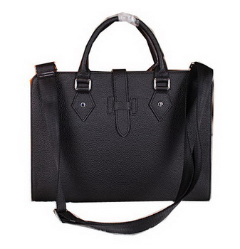 Hermes Briefcase Original Calf Leather H3308 Black