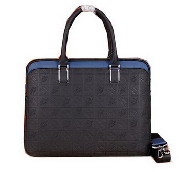 Hermes Briefcase Original Calf Leather H66161 Black