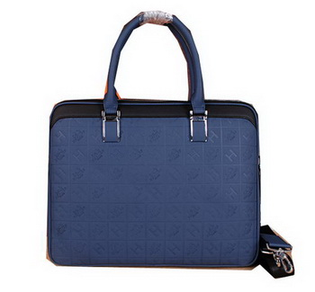 Hermes Briefcase Original Calf Leather H66161 Blue