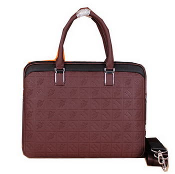 Hermes Briefcase Original Calf Leather H66161 Burgundy