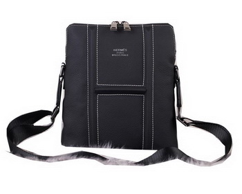 Hermes Messenger Bag Original Grainy Leather H3083 Black
