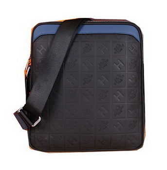 Hermes Messenger Bag Original Leather H66164 Black