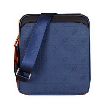 Hermes Messenger Bag Original Leather H66164 Blue