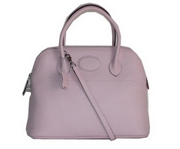 Hermes Bolide 37CM Calfskin Leather Tote Bags H509084 Light Pink
