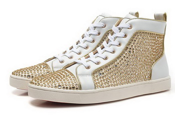 Christian Louboutin Casual Shoes CL849 White&Gold