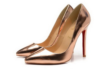 Christian Louboutin Sheepskin Leather 120mm Pump CL1447 Bronze