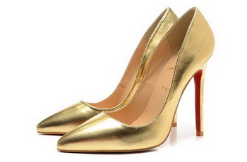 Christian Louboutin Sheepskin Leather 120mm Pump CL1447 Gold