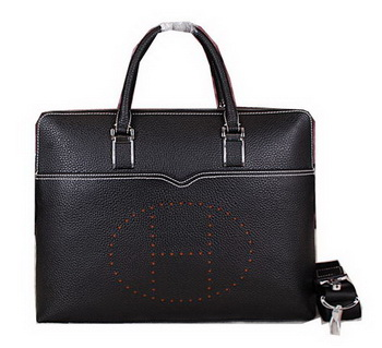 Hermes Briefcase Original Calf Leather HM8011 Black