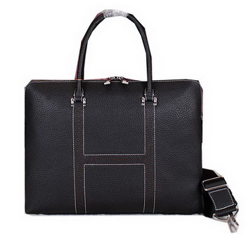 Hermes Briefcase Original Calf Leather HM8022 Black