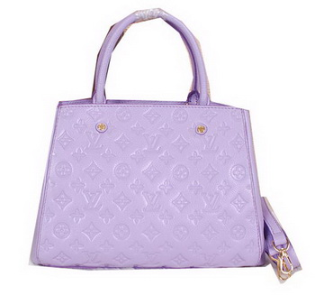 Louis Vuitton Monogram Empreinte Montaigne MM Tote Bag M41056 Lavender