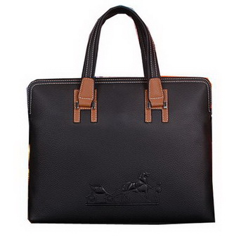 Hermes Briefcase Original Calf Leather HM9817 Black