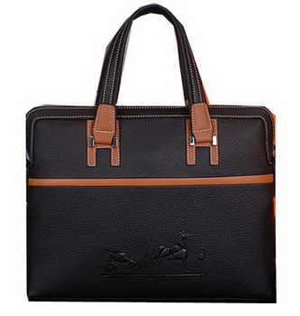 Hermes Briefcase Original Calf Leather HM9828 Black