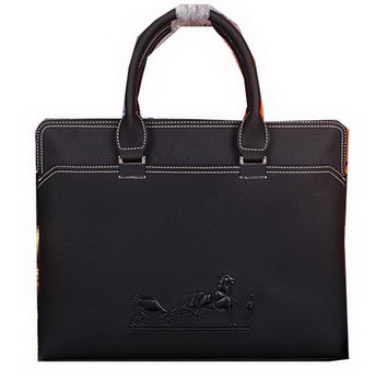 Hermes Briefcase Original Calf Leather HM98291 Black