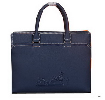 Hermes Briefcase Original Calf Leather HM98291 Royal