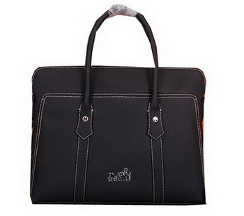 Hermes Briefcase Original Calf Leather HM98321 Black