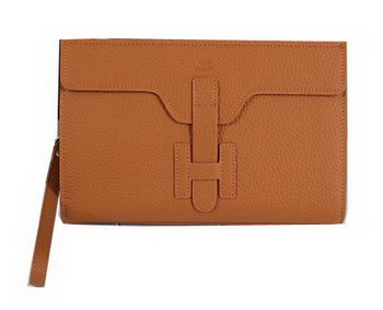 Hermes Jige Clutch Bag Calfskin Leather HQ8059 Wheat