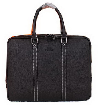 Hermes Briefcase Original Calf Leather HM086 Black