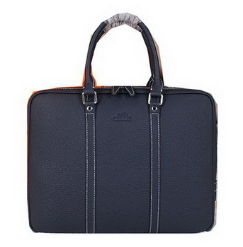 Hermes Briefcase Original Calf Leather HM086 Royal