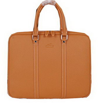 Hermes Briefcase Original Calf Leather HM086 Wheat