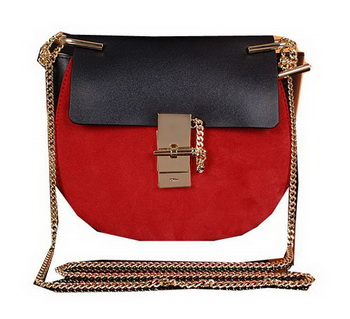 CHLOE Drew Small Suede Leather Shoulder Bag CLE7671 Maroon