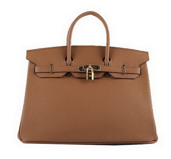 Hermes Birkin 35CM Tote Bags Wheat Grainy Leather H-35 Gold