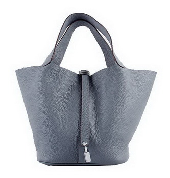 Hermes Picotin Lock PM Bags Clemence Leather H8615 Grey