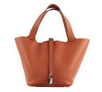 Hermes Picotin Lock PM Bags Clemence Leather H8615 Orange