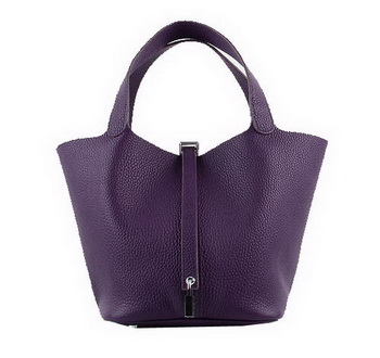 Hermes Picotin Lock PM Bags Clemence Leather H8615 Purple