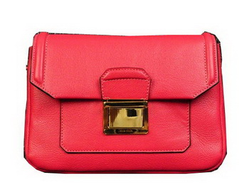miu miu Soft Calf Leather Flap Bag RP0071 Light Red