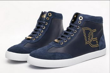 Dolce & Gabbana Suede Leather Casual Shoes D&G36 Royal