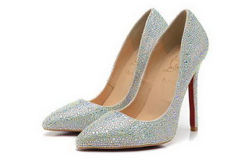Christian Louboutin 120mm Pump Diamond Leather CL1457 White