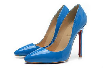 Christian Louboutin 120mm Pump Patent Leather CL1465 Blue