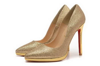 Christian Louboutin 120mm Pump Satin CL1484 Gold