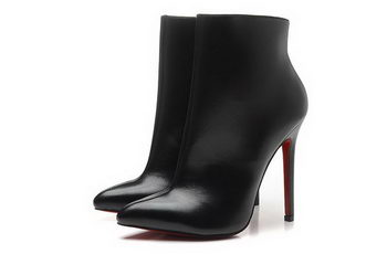 Christian Louboutin 12cm Ankle Boot Sheepskin Leather CL1453 Black