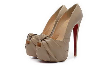 Christian Louboutin 160mm Sandals Calfskin Leather CL1481 Apricot
