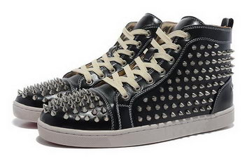 Christian Louboutin Casual Shoes Calfskin Leather CL881 Black