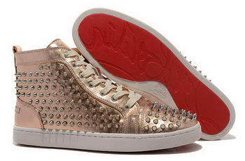 Christian Louboutin Casual Shoes Sheepskin Leather CL877 Gold