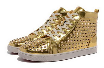 Christian Louboutin Casual Shoes Sheepskin Leather CL880 Gold