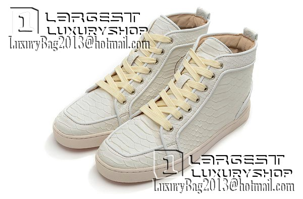 the best attitude 349e6 40f70 Christian Louboutin Casual Shoes Snake Leather CL869 White ...