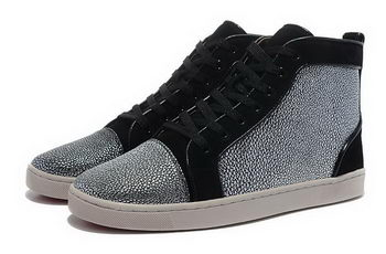 Christian Louboutin Casual Shoes Suede Leather CL862 Silver