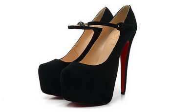 Christian Louboutin Suede Leather 160mm Platforms Pump CL1475 Black