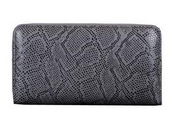Dior Snake Leather Zippy Wallet CD1923 Grey
