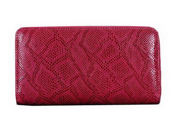 Dior Snake Leather Zippy Wallet CD1923 Red