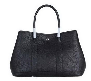 Hermes Garden Party 30cm Tote Bag Grainy Leather Black
