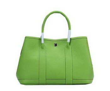 Hermes Garden Party 30cm Tote Bag Grainy Leather Green