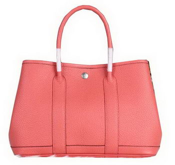 Hermes Garden Party 30cm Tote Bag Grainy Leather Pink